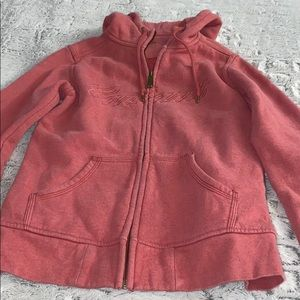 Carhartt Red Worn Look Carhartt Branded Hoodie